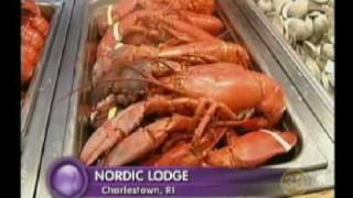 the Phantom Gourmet visits the Nordic Lodge, Charlestown, RI - The World's Most Famous All You Can Eat Lobster Buffet - All the...