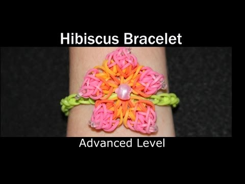 Rainbow Loom's Hibiscus Flower Bracelet Tutorial
