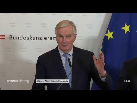 Statements von Sebastian Kurz und Michel Barnier nach ...