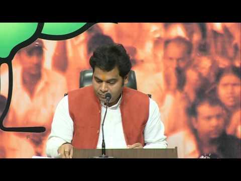 Press Conference by Shri Shrikant Sharma at BJP HQ : 29.3.2016