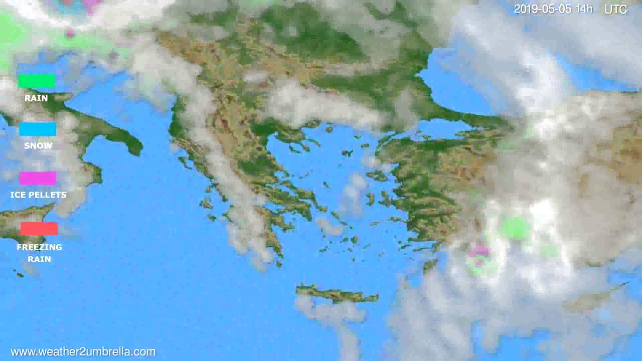 Precipitation forecast Greece // modelrun: 00h UTC 2019-05-03