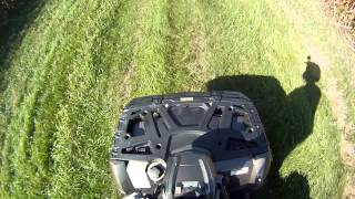 10. Polaris Sportsman 850 ride with wheelies