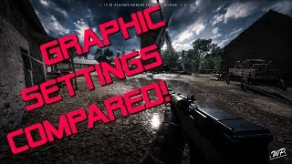 In this video I show you the differences between the single Graphisettings in Battlefield 1. As you will see there are some Settings which have a bigger impact and some which you can barely see!For example there is a big gap between Terrain Low and Medium, but not much improvement to Ultra. Also the gap between Post Processing Medium and High is huge.Maybe this is a help for you to setup BF1 nice for your PC. Im planing to make a series of that for every map and also add the performance loss in % in every Setting.My System:CPU: Intel i5 6600k @ 4.5GHzGPU: MSI Radeon R9 380 4G @ 1075MHz CoreMB: MSI Z170A Krait Gaming 3xRAM: 16Gb (4x4Gb) Ballistix DDR4-2400OS&Games: 500Gb Samsung EVO850 SSDMovie& Music: 1TB WD Blue HDDCut: Adobe Premiere CC♫Music By♫●Keaton Vegades - War Song -●Facebook - https://facebook.com/KeatonVagedesOff...●Twitter - https://twitter.com/Tweetinn_Keaton●Soundcloud - https://soundcloud.com/keatonvegadesDOWNLOAD HERE - http://www.bassrebels.co.uk/backgroun...