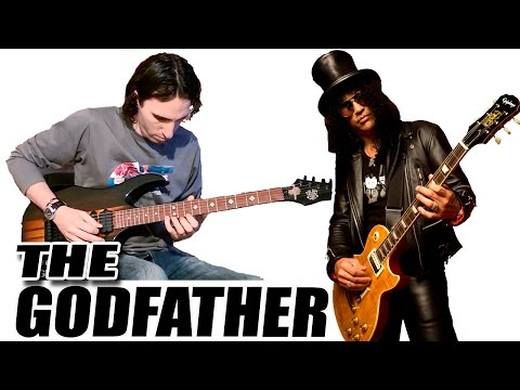 Aprender como tocar EL PADRINO THE GODFATHER (Slash) en GUITARRA Acordes notas la cuerda TCDG