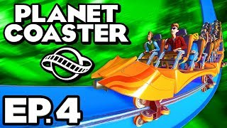 Planet Coaster Ep.4 - • PLAYING WITH FOOD • & BEATING PIRATE'S COVE!!! (Gameplay / Let's Play)