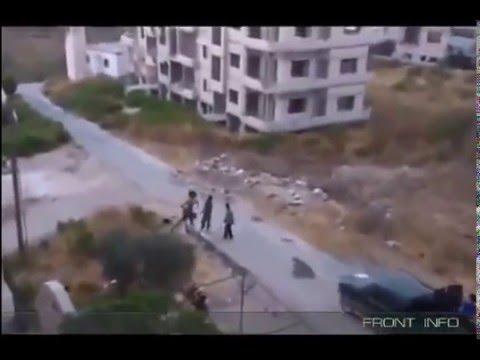 Прямое попадание в террористов игил в Сирии. - DomaVideo.Ru