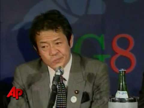 Raw Video: Drunken Japanese Finance Minister?