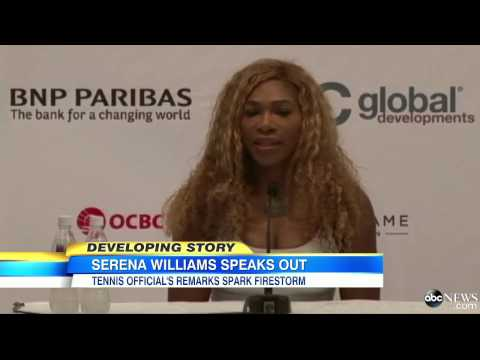 calls - Serena Williams addresses offensive remarks about her and sister Venus.