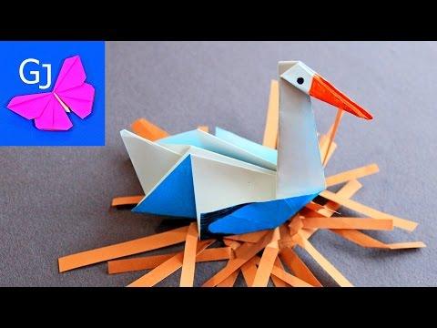 Как сделать аиста своими руками из бумаги оригами