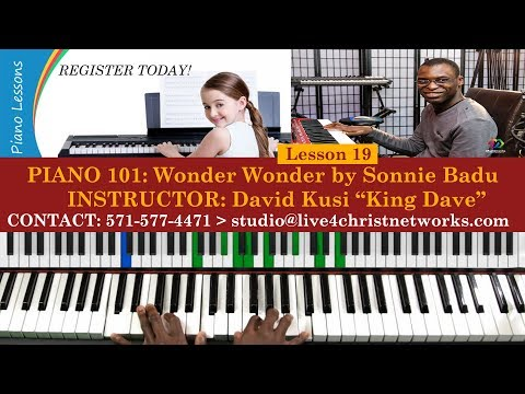 Video Piano 101 || Lesson 19 || Wonder Wonder by Sonnie Badu || Piano Midi Chords Demo download in MP3, 3GP, MP4, WEBM, AVI, FLV January 2017