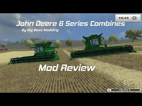 Farming Simulator 2013: John Deere Combine Review (Big Boss Modding)