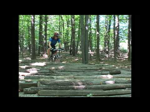Maybury State Park Mountain Biking Trail in Michigan