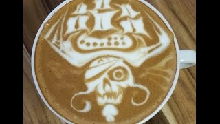"Video Latte Art ""Pirate Of The Caribbean - 2"" by Elvis - Seivijus Matiejunas MP3, 3GP, MP4, WEBM, AVI, FLV Agustus 2018"