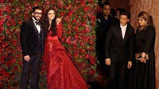 Shah Rukh Khan's Royal ENTRY At Ranveer Singh Deepika Padukone's Mumbai WEDDING Reception