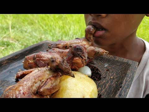 Kdeb Cooking: Delicious Frying Quail / Eating Quail