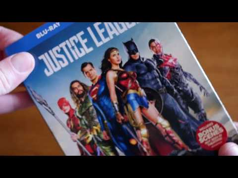 Unboxing JUSTICE LEAGUE (2017) Blu-ray + DVD + Digital