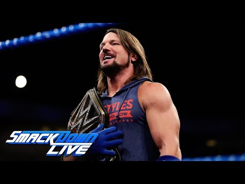 AJ Styles reacts to the WWE Title Handicap Match at Royal Rumble: SmackDown LIVE, Jan. 9, 2018