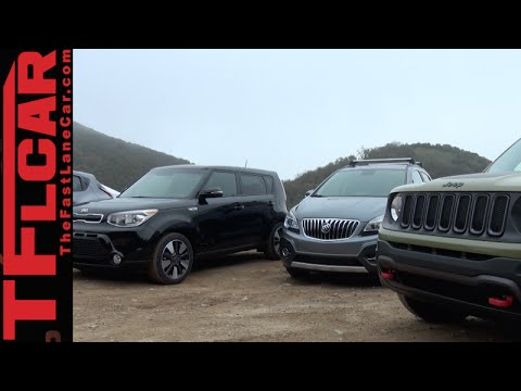 2015 Jeep Renegade vs Nissan Juke vs KIA Soul vs Buick Encore Mashup Review