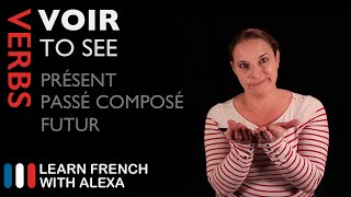 "Alexa teaches the French verb voir (to see) in the past, present & future tense. SUPPORT GUIDE and EXCLUSIVE VIDS at ► https://learnfrenchwithalexa.com. Test Yourself on ""voir - past, present & future"" with our partner KWIZIQ ► http://learnfren.ch/2lfA0DU----------------------------------------------SUPPORT MY VIDEOS My Patreon page ► https://patreon.com/french----------------------------------------------RECOMMENDED PLAYLISTSFrench Verbs ► http://learnfren.ch/FrenchVerbsLFWA----------------------------------------------MY LIVE LESSONSJoin my live lessons ► http://learnfren.ch/live-lessons----------------------------------------------MY LINKSMy Blog ► https://learnfrenchwithalexa.com/blogFacebook ► http://learnfren.ch/faceLFWATwitter ► http://learnfren.ch/twitLFWALinkedIn ► http://learnfren.ch/linkedinLFWANewsletter ► http://learnfren.ch/newsletterLFWAGoogle+ ► http://learnfren.ch/plusLFWAMy Soundcloud ► https://soundcloud.com/learnfrenchwithalexaT-Shirts ► http://learnfren.ch/tshirtsLFWA----------------------------------------------MORE ABOUT LEARN FRENCH WITH ALEXA'S 'HOW TO SPEAK' FRENCH VIDEO LESSONSAlexa Polidoro a real French teacher with many years' experience of teaching French to adults and children at all levels. People from all over the world enjoy learning how to speak French with Alexa's popular online video and audio French lessons. They're fun, friendly and stress-free! It's like she's actually sitting there with you, helping you along... Your very own personal French tutor.Please Like, Share and Subscribe if you enjoyed this video. Merci et Bisou Bisou xx----------------------------------------------Ready to take your French to the next level? Visit ► https://learnfrenchwithalexa.com to try out Alexa's popular French courses."