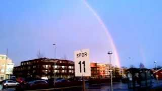 Stjordal Norway  City new picture : Double Rainbow in Stjørdal, Norway