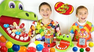 Video CHALLENGE CROCODILE DENTISTE entre frères - Jelly Belly ou Chewing Gum ? - Jeu Croc Dentiste MP3, 3GP, MP4, WEBM, AVI, FLV November 2017