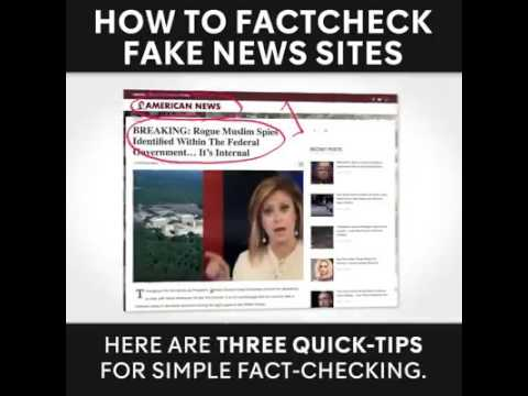 How to fact check fake news sites