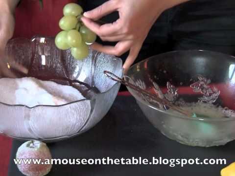 stupefacente centro tavola con frutta brinata