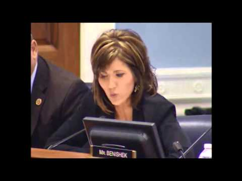U.S. Representative Kristi Noem questioned a senior U.S. Department of Agriculture (USDA) official on the Natural Resources Conservation Service's (NRCS) role with the proposed navigable waters rule. (noem.house.gov)