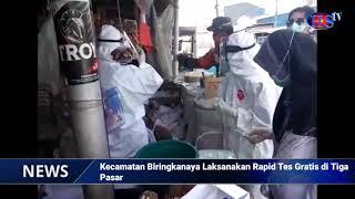 Kecamatan Biringkanaya Laksanakan Rapid Tes Gratis di Tiga Pasar (HARIANSIBER TV)
