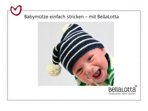 Babymütze stricken für Anfänger_Max&Mia, einfach selber machen für Anfänger
