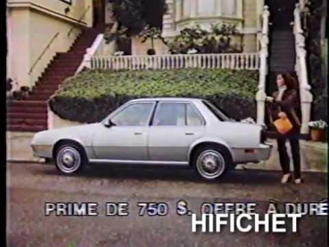 Oldsmobile Firenza LX (Publicité Québec)
