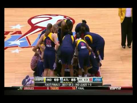 Tamika Catchings Injury - Indiana Fever vs. Atlanta Dream