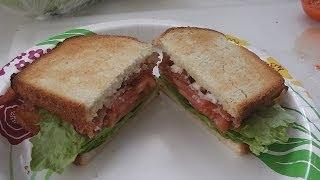 BLT Sandwich, Bacon Lettuce Tomato on Toast