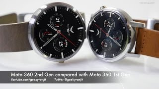 Moto 360 2nd Gen Overview & Compared with Moto 360 1st Gen