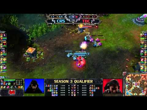 curse gaming - Game starts 6:15 League of Legends Season 3 Qualifiers January 11th 2013 Curse Gaming (CRS) vs The Brunch Club (TBC) Extracted from: http://www.twitch.tv/rio...
