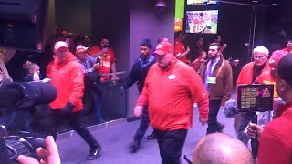 Chiefs head to locker room after 27-24 overtime victory over the Ravens