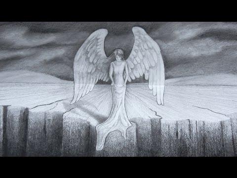 Cómo dibujar un ángel en 3D