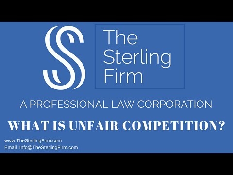 WHAT IS UNFAIR COMPETITION?