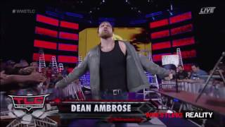 Aj Styles vs Dean Ambrose Highlights TLC 2016