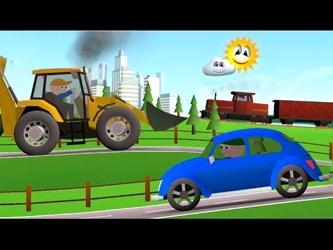 Мультфильмы про машинки. Машинки и разные погоды. Транспорт для детей.