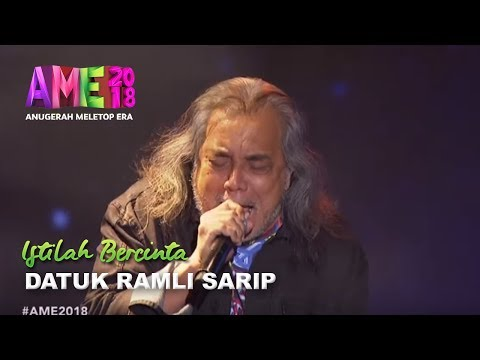 #AME2018 I Living Legend Datuk Ramli Sarip   Istilah Bercinta I Anugerah MeleTOP ERA 2018