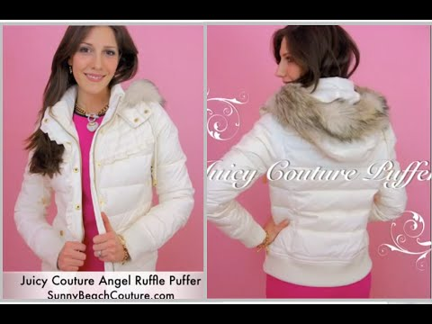 Juicy Couture Puffer Jacket Angel White