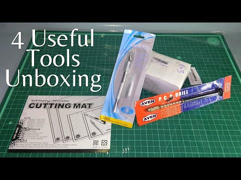 4 Useful Tools | Unboxing of Cutting Mat, precision Knife, Hand Drill machine and Baby Vice