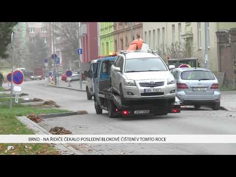 TV Brno 1: 17.11.2017 Na řidiče čekalo poslední blokové čištění v tomto roce