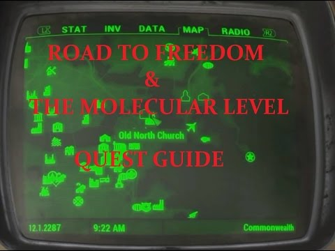 how to complete road to freedom quest in fallout 4 old north