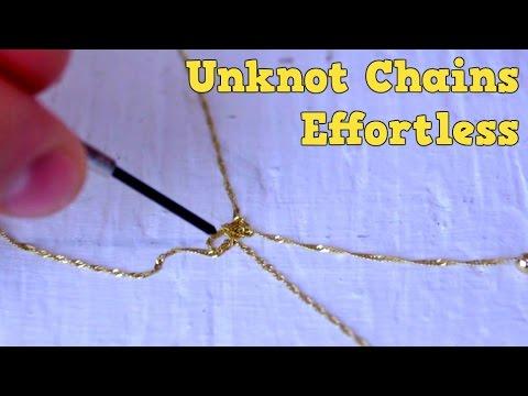 解開打結的項鍊...學起來