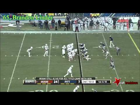 Brandon Linder vs Pittsburgh 2013 video.