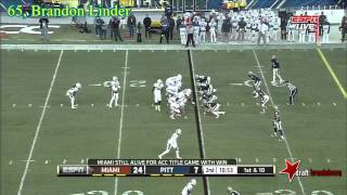 Brandon Linder vs Pitt (2013)