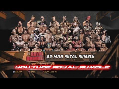 WWE'12 - 40 Man You Tube Royal Rumble Match HD