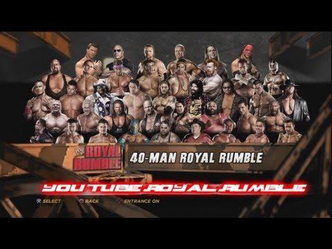 WWE'12 - 40 Man You Tube Royal Rumble Match HD